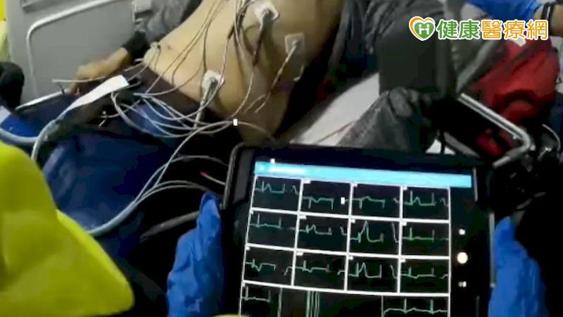 救護車配備心電圖機 壯年男心肌梗塞到院前獲救