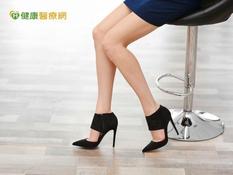 常穿高跟鞋易O型腿 膝關節提早退化